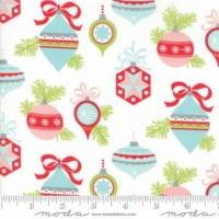 Brushed Cotton Flannel - Vintage Holiday (Flannel) - Ornaments - No.55160-18F (Ivory) - Moda