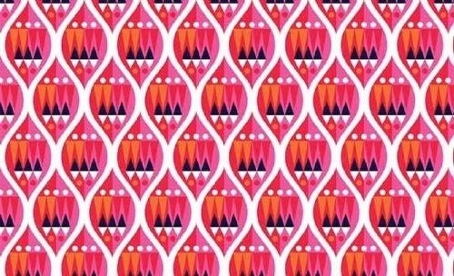 Makower - Wrap It Up - Baubles - 1608/P (Pink)