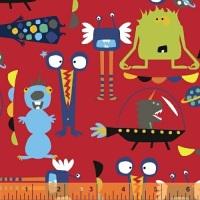 Windham Fabrics - Aliens - 43231-1 (Red)