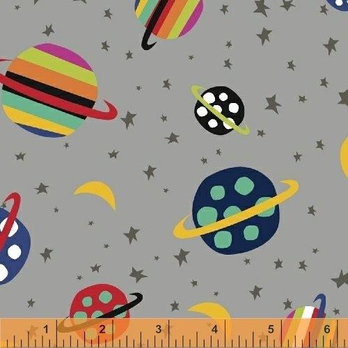 Windham Fabrics - Aliens - 43232-5 (Grey)