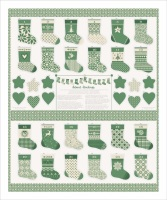 Moda - Merry Merry - Mini Stockings Panel - No. 27270-11 (Green)