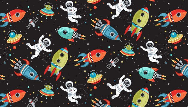 Makower - Outer Space - No. 2267/X Scene (Black)