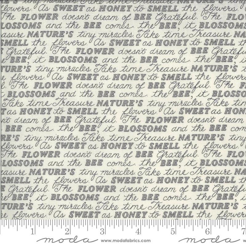 Moda - Bee Grateful - Sweet Words - 19963 14 (Dove Grey)