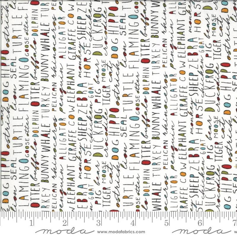 Moda - Animal Crackers - Words - 5804 15 (Vanilla)