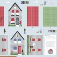 Windham Fabrics - Neighbourhood - House Pillow Panel