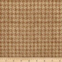 Riley Blake - Menswear - Small Houndstooth - C4792 (Tan)