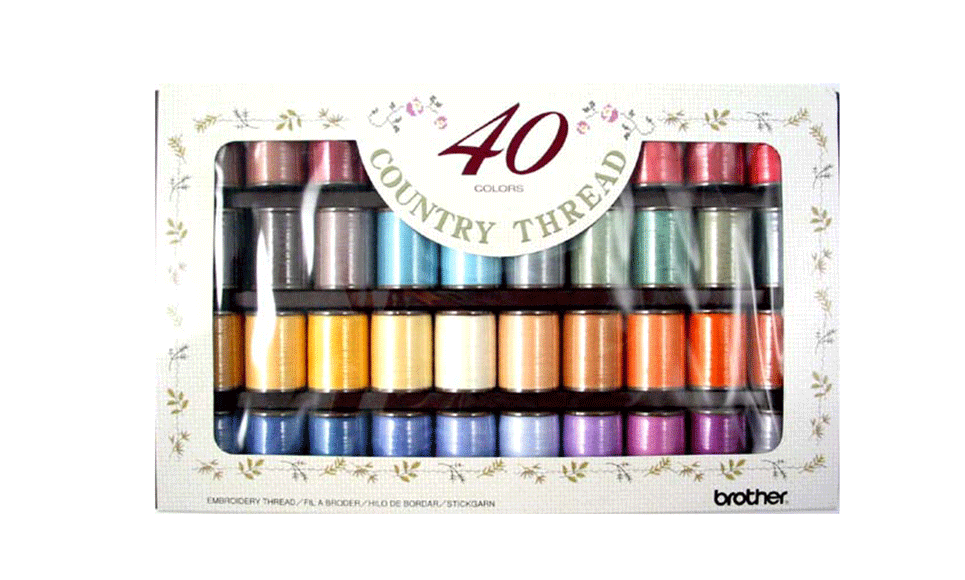 Brother Thread Set - Country Yarn Embroidery 300m x 40