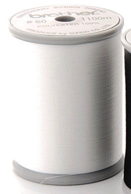 Brother Embroidery Bobbin Thread #60 - White - (Sewing & embroidery models)