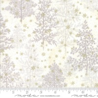 Moda - Forest Frost Glitter - Pine Trees - 33520 12MG (Snow)