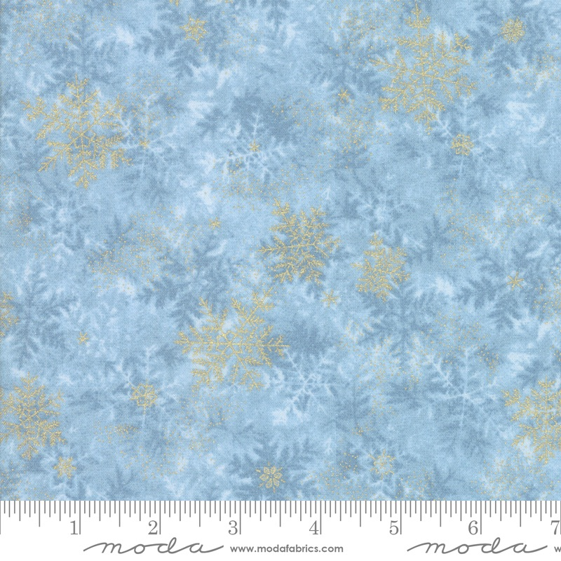 Moda - Forest Frost Glitter - Snow Flakes - 33523 13MG (Icicle)