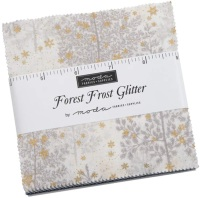 Moda - Forest Frost Glitter - Charm Pack
