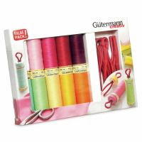 Gutermann Thread Set - Sew-All 100m x 10 + Bobbin Clips