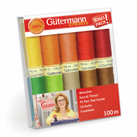 Gutermann Thread Set - Sew-All 100m x 10 (Assorted Colours)