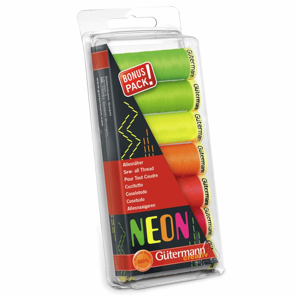 Gutermann Thread Set - Sew-All 100m x 7 (Neon)