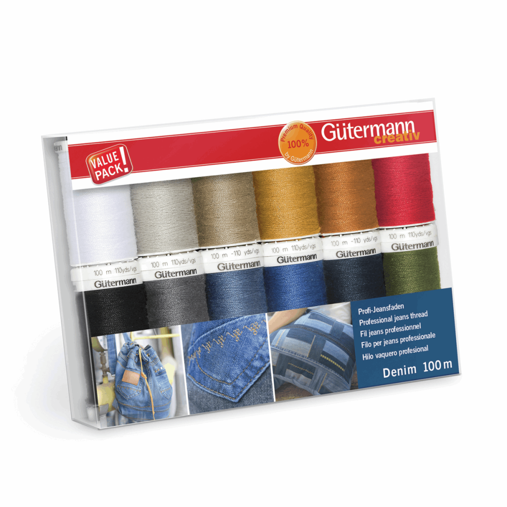 Gutermann Thread Set - Denim 100m x 12