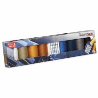 Gutermann Thread Set - Denim 100m x 8 + Jeans Sewing Needles