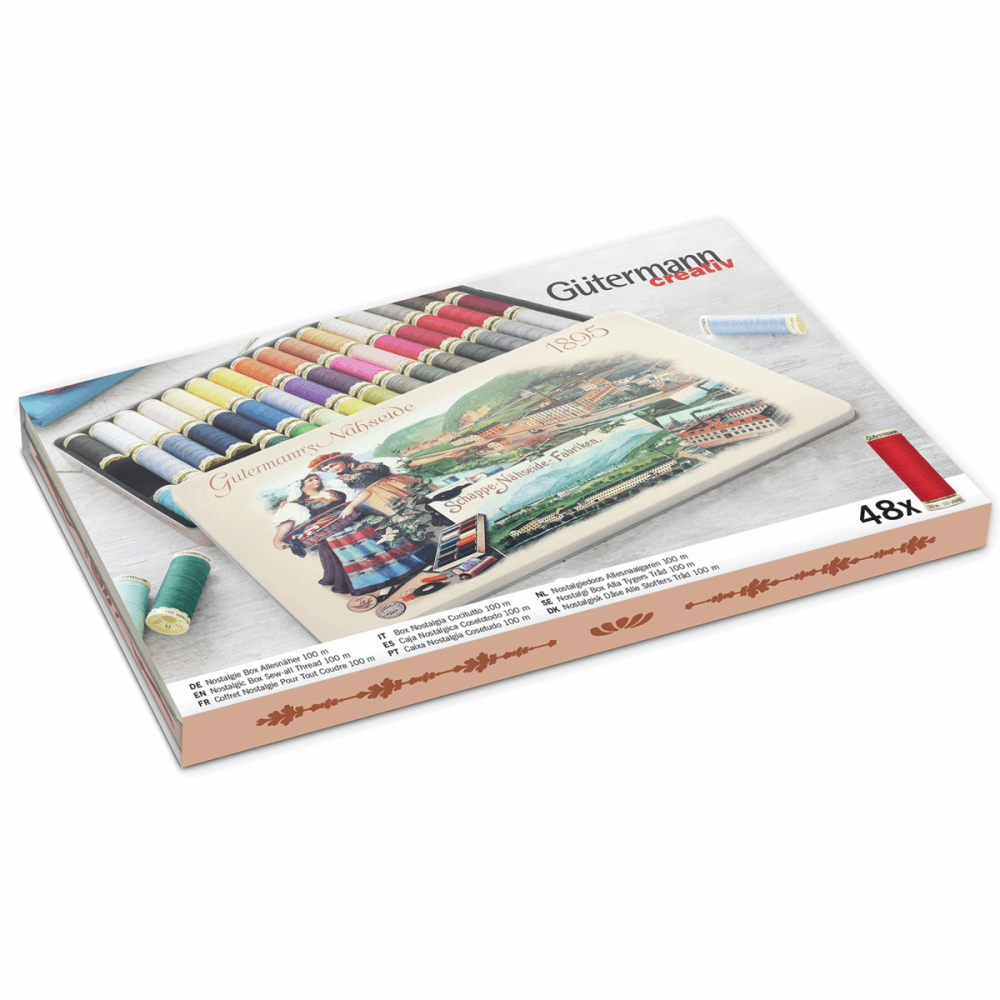 Gutermann Thread Set - Nostalgic Box '1895' - Sew-All 100m x 48