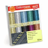 Gutermann Thread Set - Metallic Effect 50m x 10