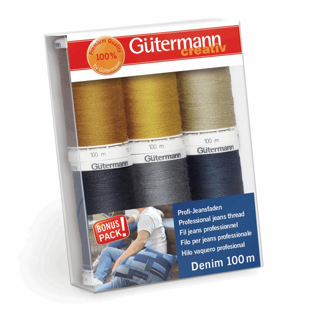 Gutermann Thread Set - Denim 100m x 6