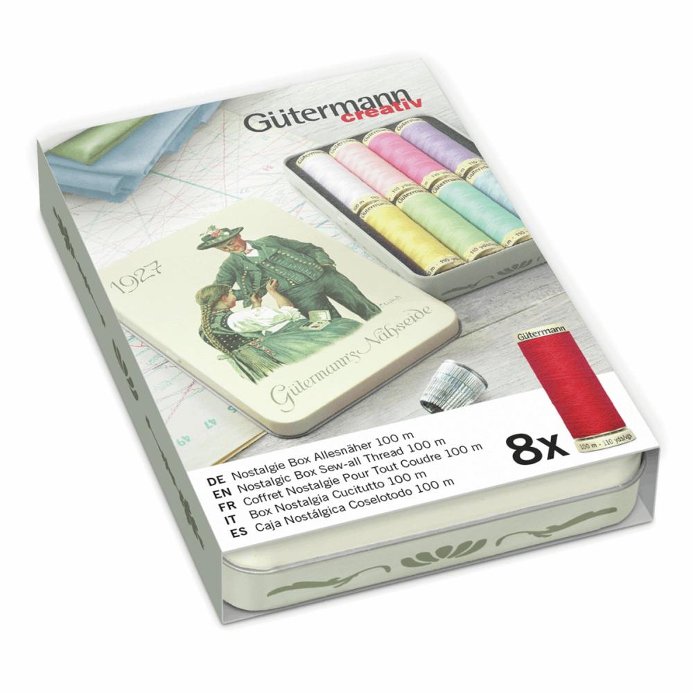 Gutermann Thread Set - Nostalgic Box '1927' - Sew-All 100m x 8