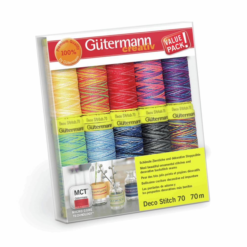 Gutermann Thread Set - Deco Stitch 70m x 10