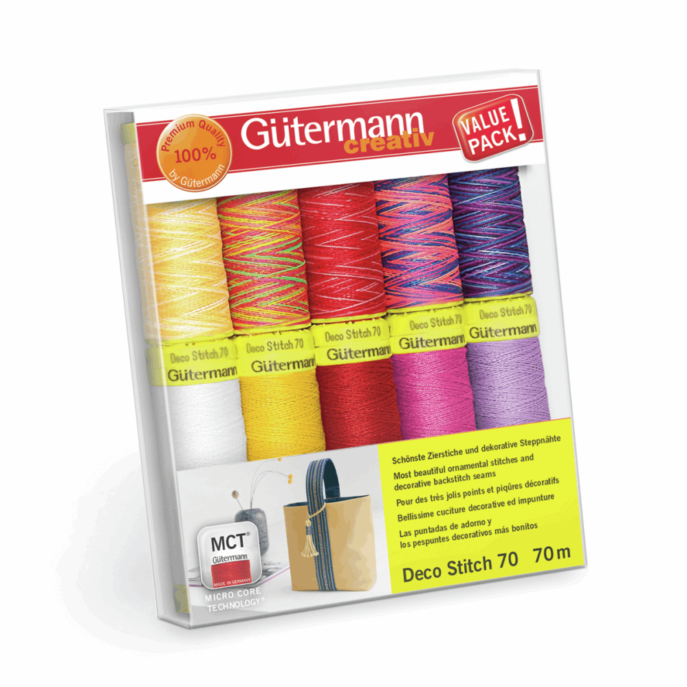 Gutermann Thread Set - Deco Stitch 70m x 10