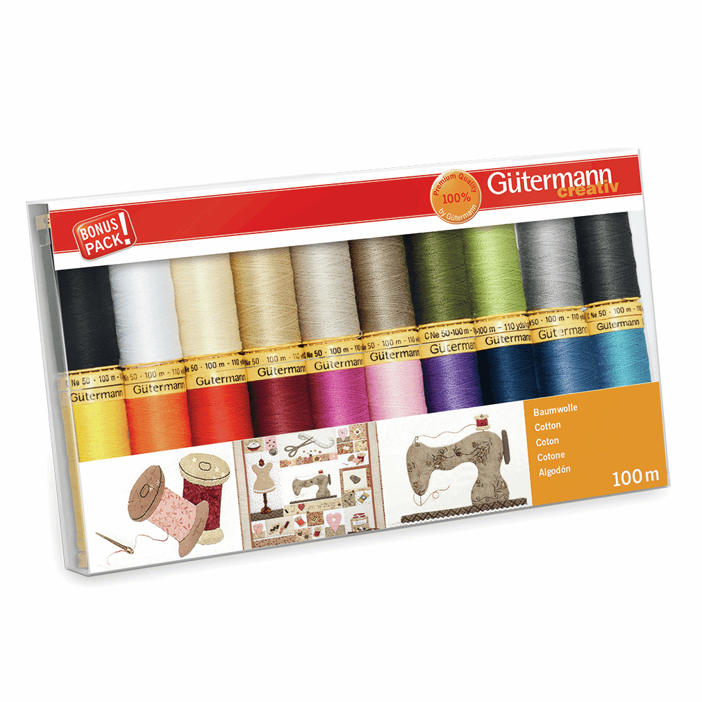 Gutermann Thread Set - Natural Cotton 100m x 20