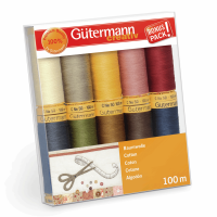 Gutermann Thread Set - Natural Cotton 100m x 10 (Set 3)