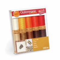 Gutermann Thread Set - Natural Cotton 100m x 10 (Set 4)