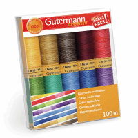 Gutermann Thread Set - Natural Cotton 100m x 10 (Multicolour)