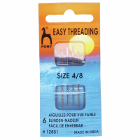 Easy Threading Needles - Size 4-8 (Pony)