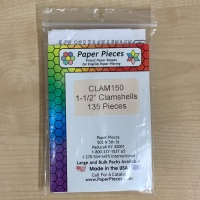 """1 ½"""" Clamshell Paper Pieces"""