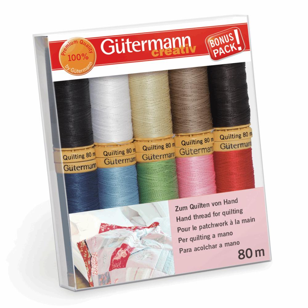 Gutermann Thread Set - Hand Quilting Cotton 80m x 10