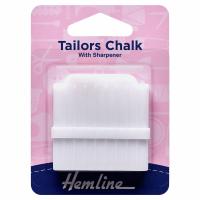 Tailors Chalk with Sharpener - White (Hemline)