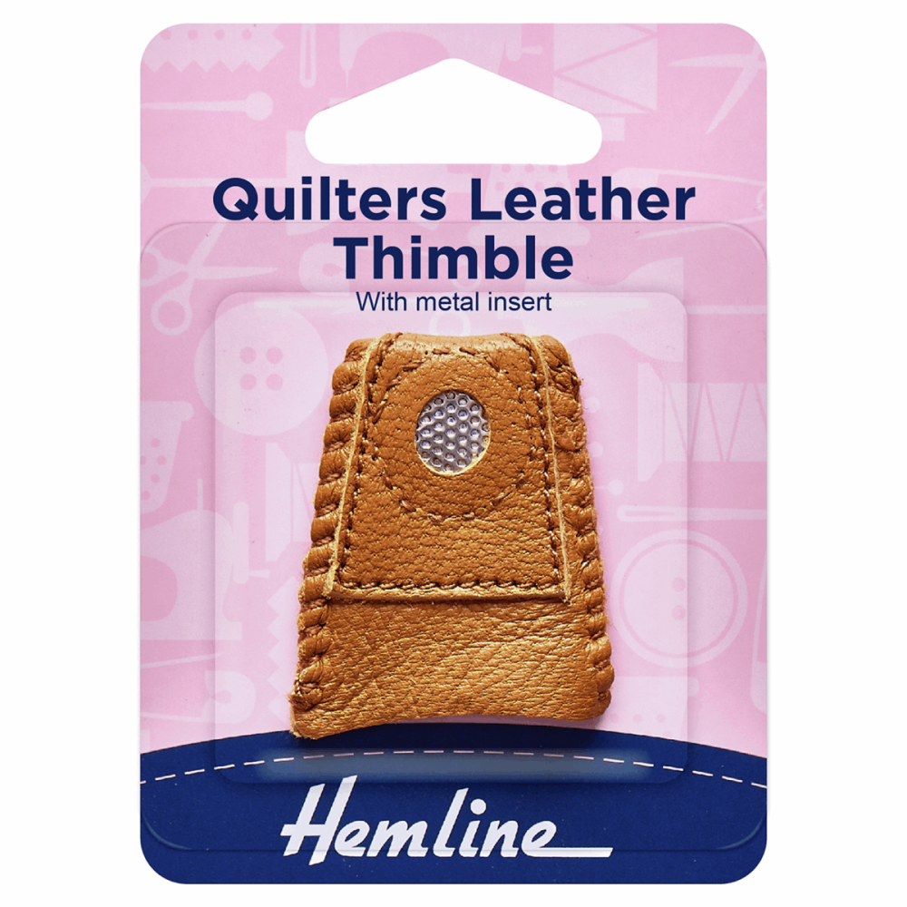 Quilters Leather Thimble (Hemline)