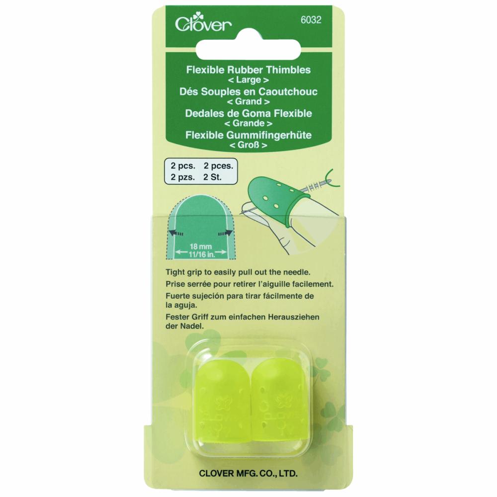 Flexible Rubber Thimbles - Large (Clover)