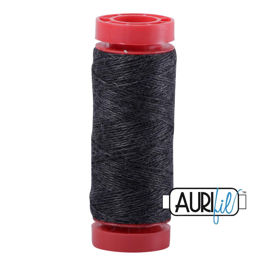 Aurifil Wool 12wt, Col. 8083 Dark Grey Melange