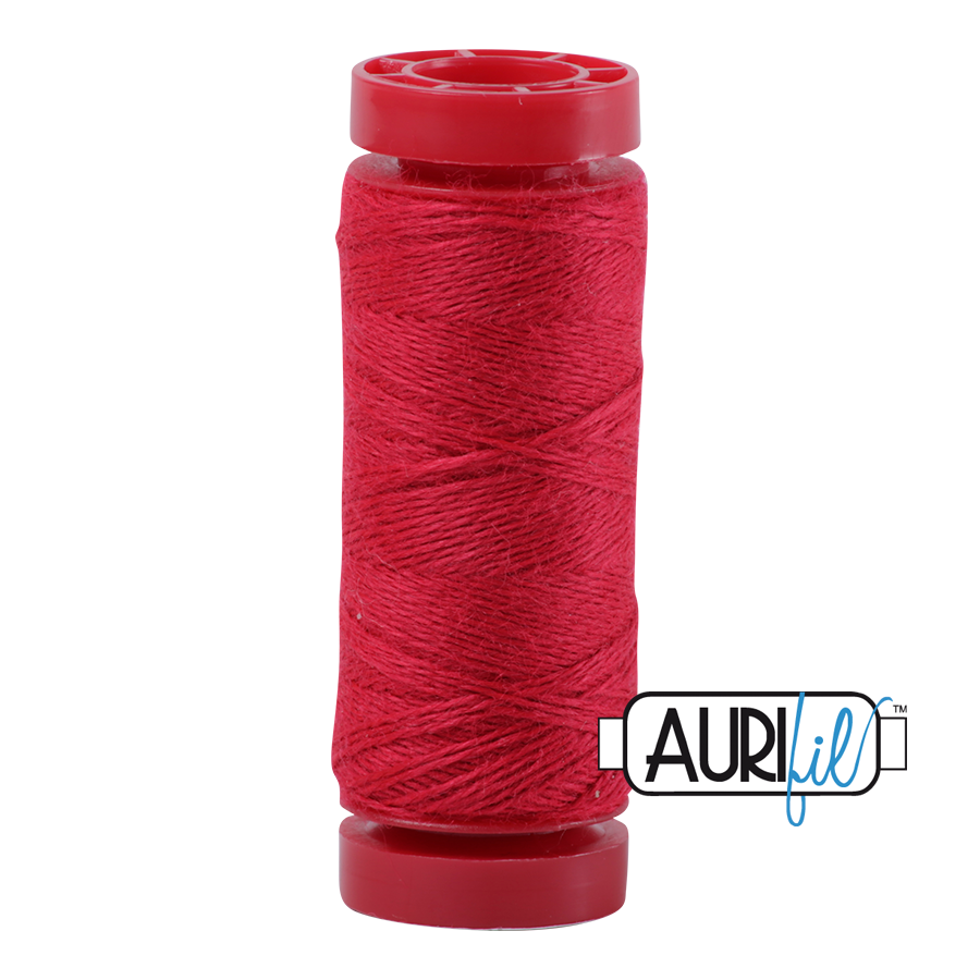Aurifil Wool 12wt, Col. 8255 Raspberry