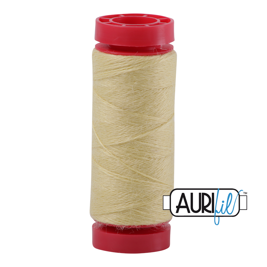 Aurifil Wool 12wt, Col. 8115 Light Lemon