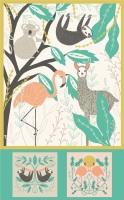 Moda - Zoology - Baby Blanket Panel - 48301 11