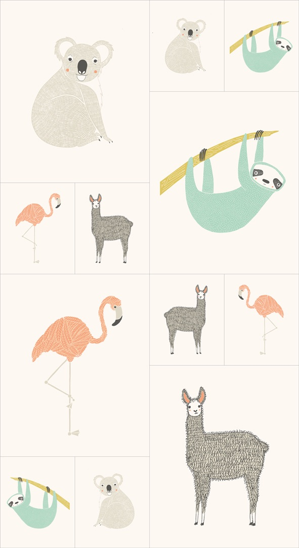 Moda - Zoology - Animal Panel - 48300 11
