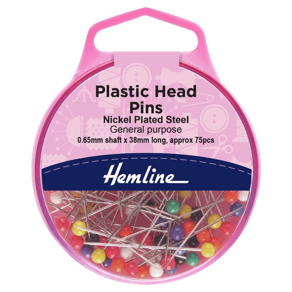 Plastic Head Pins (Hemline)