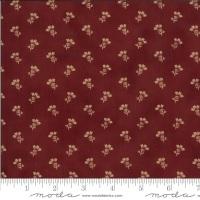 Moda - Redwork Gatherings - Thistle Bloom - 49114 15 (Dark Red)
