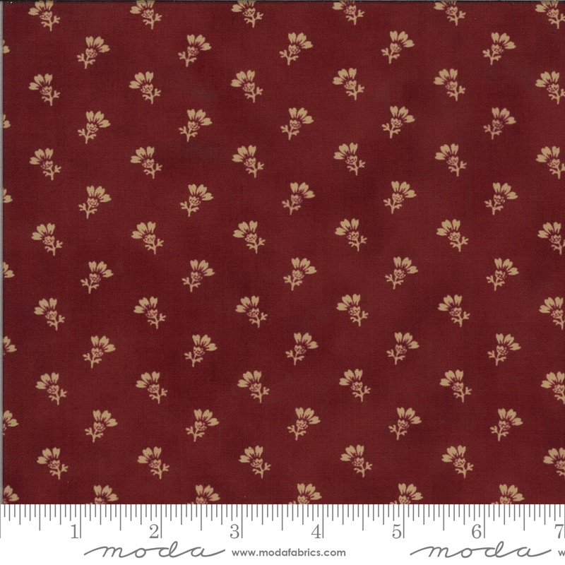 Moda - Redwork Gatherings - Thistle Bloom - 49114 15 (Dark Red)