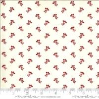 Moda - Redwork Gatherings - Thistle Bloom - 49114 11 (Cream)