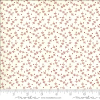 Moda - Redwork Gatherings - Whirly Flower - 49112 11 (Cream)
