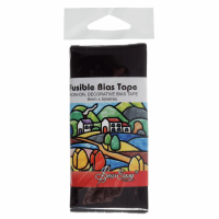 Fusible Bias Tape - Black (Sew Easy)