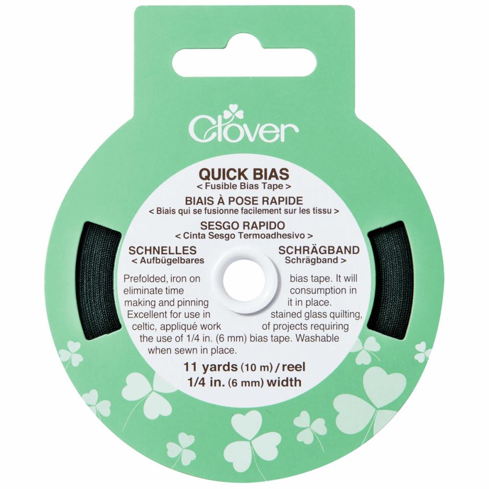 Fusible Bias Tape - Black (Clover)