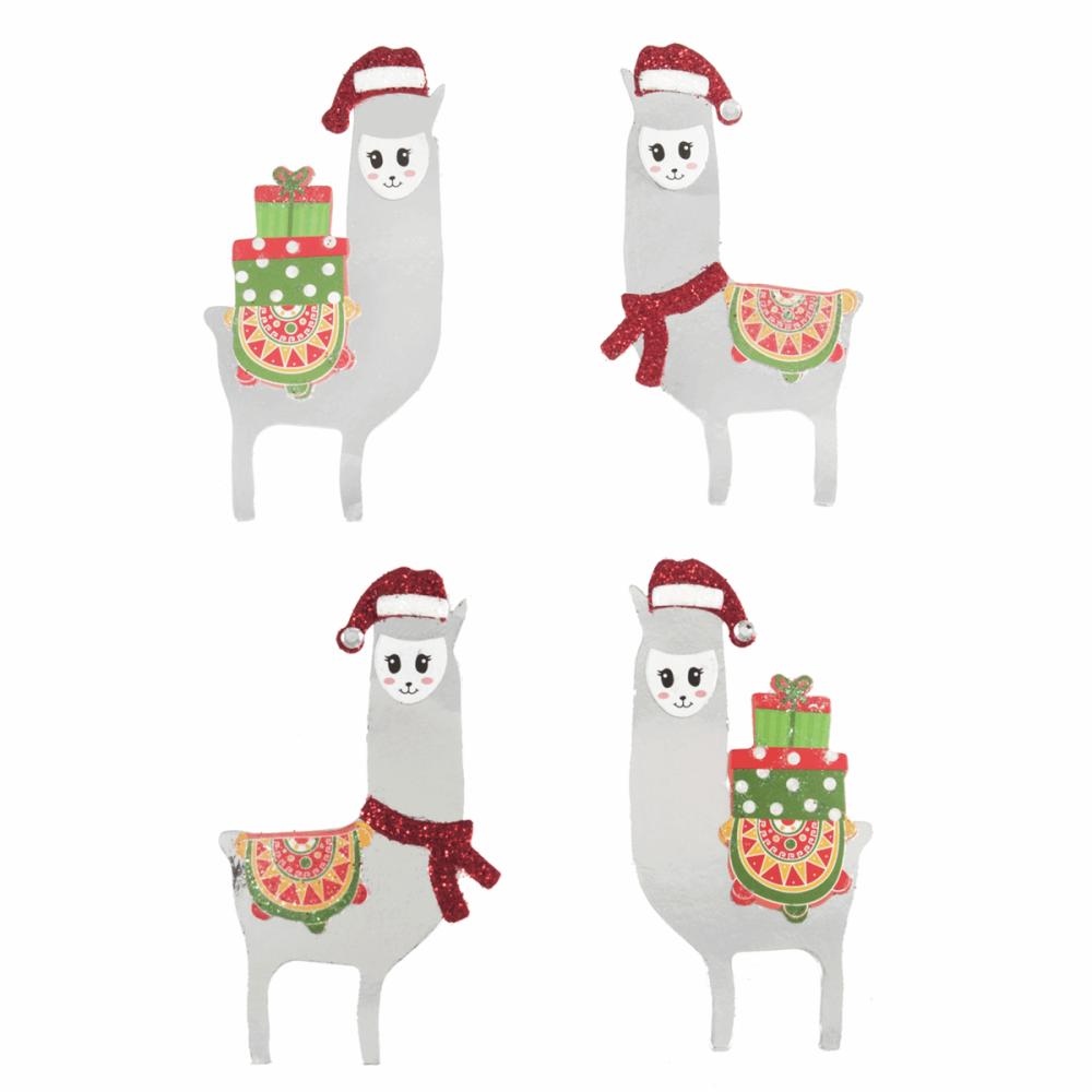 Festive Llamas (4 Pieces)