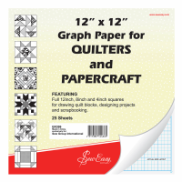 12 x 12in Graph Paper for Quilters & Papercraft (Sew Easy)